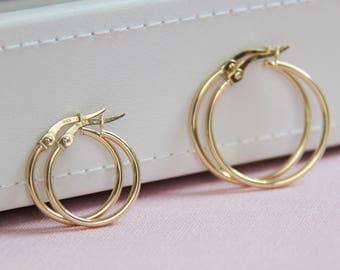 Everyday 14ct Gold Hoop Earrings