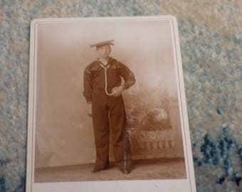 NAVY SAILOR - 1800's - Cabinet Card - Rare - Use this coupon code at checkout for 25% off:  NICKZ6151C