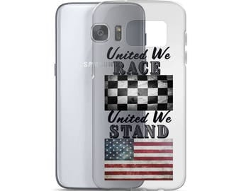 United We Race United We Stand Samsun Galaxy Phone Case - Black Letters (for light-colored phones)