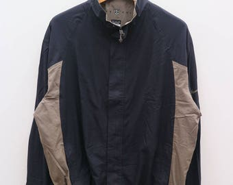 Vintage NIKE GOLF Sportswear Black Zipper Windbreaker Size XL