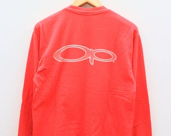 Vintage OCEAN PACIFIC Big Logo Surfing Hawaii Aloha Red Pullover Sweater Sweatshirt