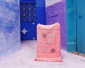 Pink Rug  / Moroccan Rug / Boho Wall Decor / Ethnic Rug / Moroccan Carpet / Cactus Silk Decor / Cactus Silk Rug / Vegan Rug / Bohemian Rug