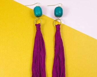 Floral Tassle Earrings