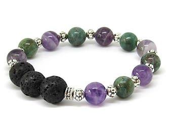 Essential Oil Bracelet, Lava Bead Bracelet, Lava Stone Diffuser Bracelet, Lava Stone Beads, Aromatherapy Bracelet, Aromatherapy Jewelry