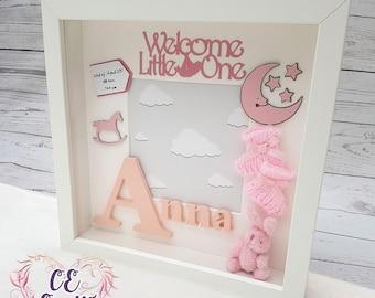 Personalised Baby Frame | Letter Frame | Baby Frame | Baby Gift |Christening Gift | Baby Memory Box | Keepsake Box | Nursery Decor