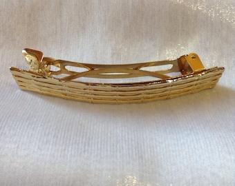 Faux Gold Bamboo Barrette
