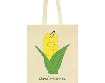 Unicorn Uni Corn Cob With Horn Tote Bag