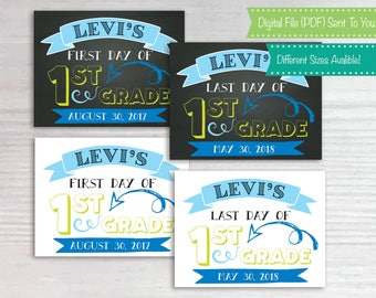 First Day of School Sign, 1st Day Sign, Last Day School Sign, ChalkBoard, Photo Prop, Back to School, Customizable