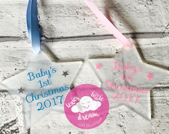 Baby's first Christmas decoration, baby gift, first christmas