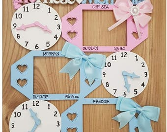 In this moment time stood still baby memory keepsake clock