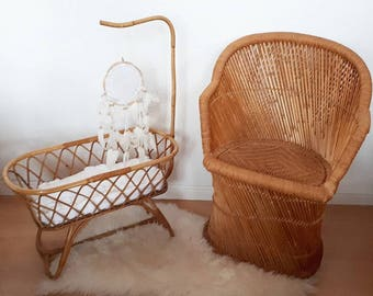 Vintage Rattan Chair for Adults