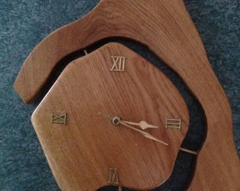 Hand Crafted Solid Oak Wall Clock
