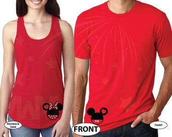 Mickey Minnie Mouse Heads designs, Cute Mr and Mrs Big Ears Design, Awesome Couple, Married With Mickey, 049