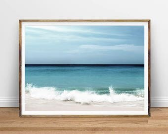 Beach Surf Print, Ocean Waves, Ocean Surf Art, Coastal Wall Decor, Beach Art, Printable Poster, Digital Print, Digital Download, Water