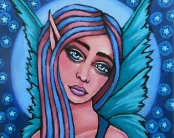 Moonlight Fairy, original painting