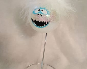 Abominable Snowman glass ornament