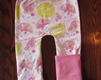 Pants scalable lemon rose with pink accent