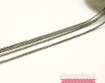 Chain 2mm - brass, Bronze - chains