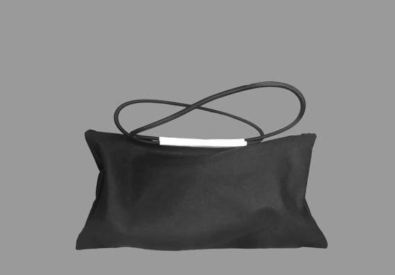 LARGO 2.0 XL black handbag made of Jacron minimalist design