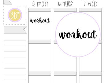 Workout Word Stickers (128)