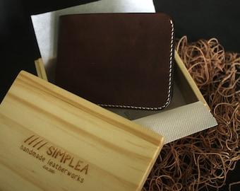 Billfold Wallet Natural Hermann Oak Vegtan Leather