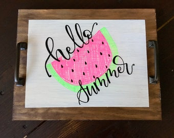 Hello Summer Serving Tray