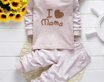 Baby Clothes pajamas Love Mama & Papa