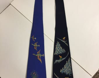 1970's Vintage Ward and Ward Painted Neckties