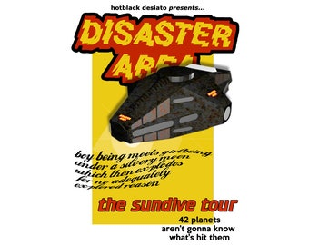 T-SHIRT: Hitchhikers Guide to the Galaxy / Disaster Area - Classic T-Shirt & Ladies Fitted Tee - (LazyCarrot)