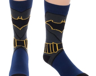Batman Knit Socks (New, Free Shipping For Additional Products, 1 Pair)