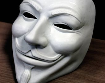 Mask Guy Fawkes unpainted