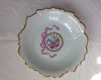 Limoges footed plate