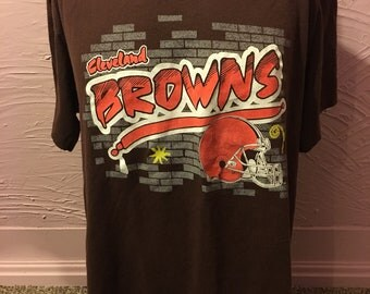 Vintage Cleveland Browns Trench Mfg. T-Shirt L 90's