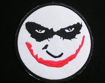 Why So Serious JOKER FACE Uniform Logo BATMAN  iron on patch.