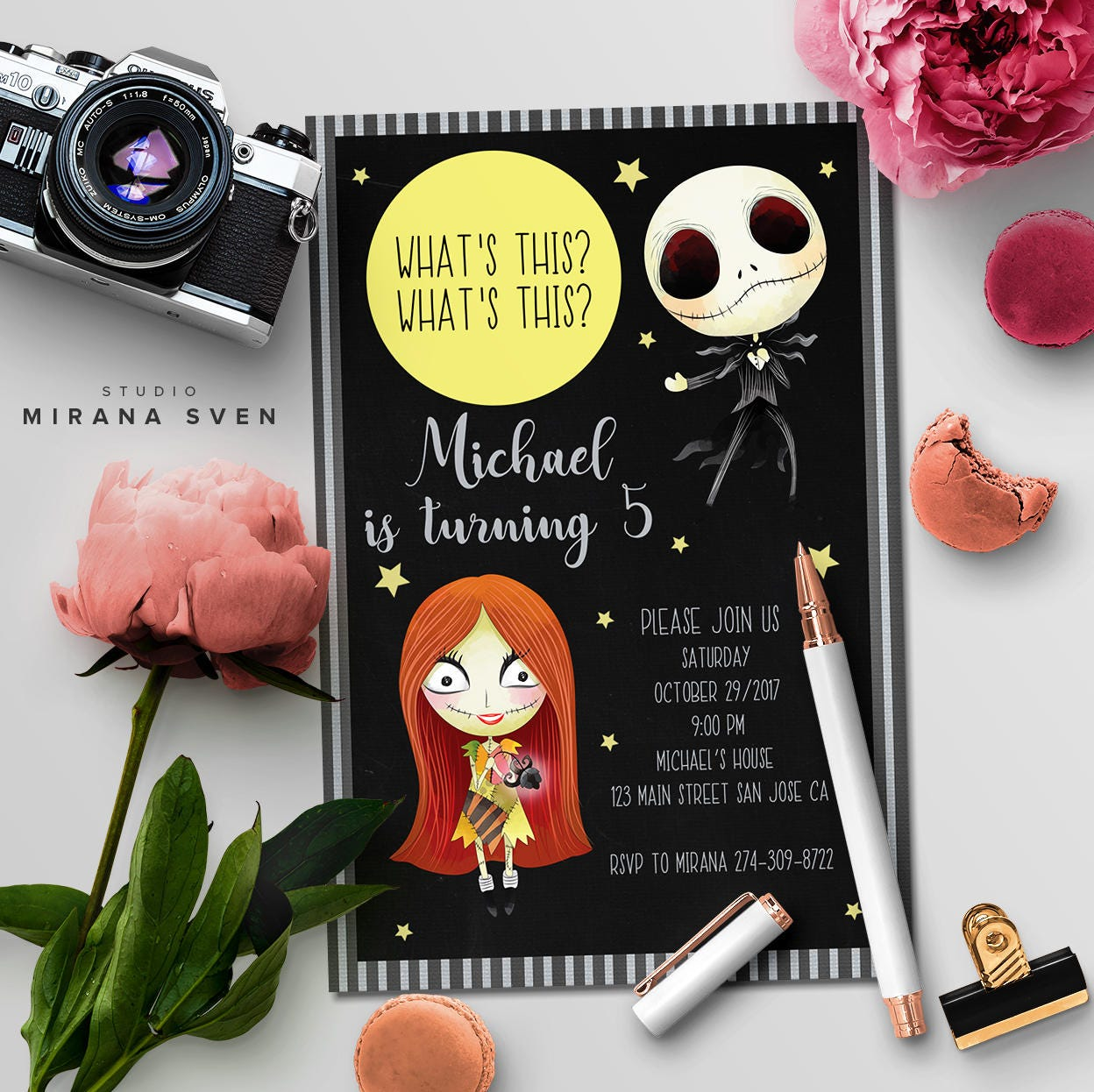 Nightmare Before Christmas Party Invitation, Custom Jack Skellington ...