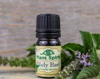 Organic Holy Basil Essential Oil | Tulsi Essential Oil | 5 ml | Ocimum sanctum | India