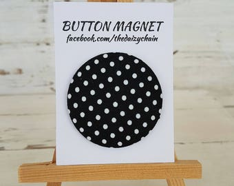 Large Fabric Button Magnet - Mickey Collection - Fridge Magnets - Office Magnets