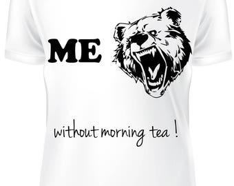 White T-shirt - Before mornig tea- B-WD-006