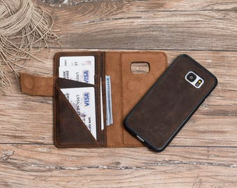 Magnetic Detachable Leather Wallet Case for Samsung Galaxy S8 / S8 Plus, Leather Wallet Case for Galaxy S8#PENTRA PLUS MAGNET