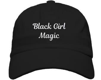 Black Girl Magic Baseball Dad Hat Strapback Women's Hats Men's Hats Embroidered Hats