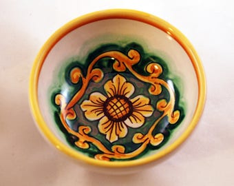 Traditional Sicilian Decorative Small Bowl