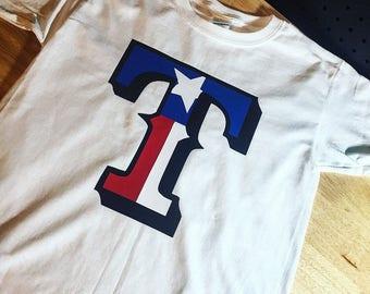 Texas Rangers Texas Flag T-shirt
