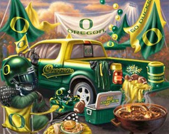Oregon Ducks TaiLgate Cross Stitch Pattern***LOOK***