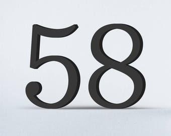 Flat Cut Acrylic House Numbers - Sentinel Light