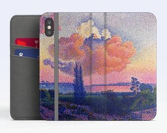 "Henri Edmond Cross, ""The Pink Cloud"". iPhone X Wallet case iPhone 8 Wallet case  iPhone 7 Plus Wallet case. Samsung Wallet cases."