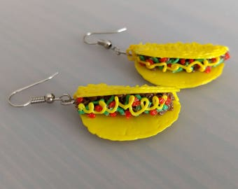 Taco 3d pen PLA earrings