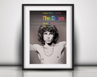 The Doors 1970 The Last Concert Poster Print Olivia Valentine© 2017 NEW Exclusive