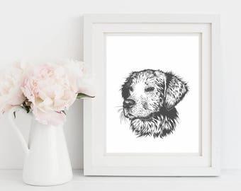 Nursery Decor, Dog Art Print, Nursery Wall Art, Dog Wall Art, Dog Lover Gift, golden retriever wall art, Christmas Gift Ideas,Digital Prints