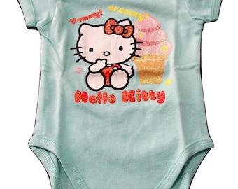 Hello Kitty 6 months baby girl short sleeve Leotard (68 cm) cream