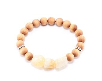 Stackable Wood Beaded Bracelet
